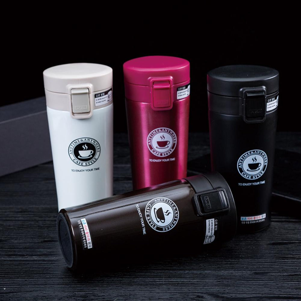 Hot Quality Coffee Mug Stainless Steel Thermos Tumbler Cups Vacuum Flask  350ML  thermo Water Bottle Tea Mug Thermocup