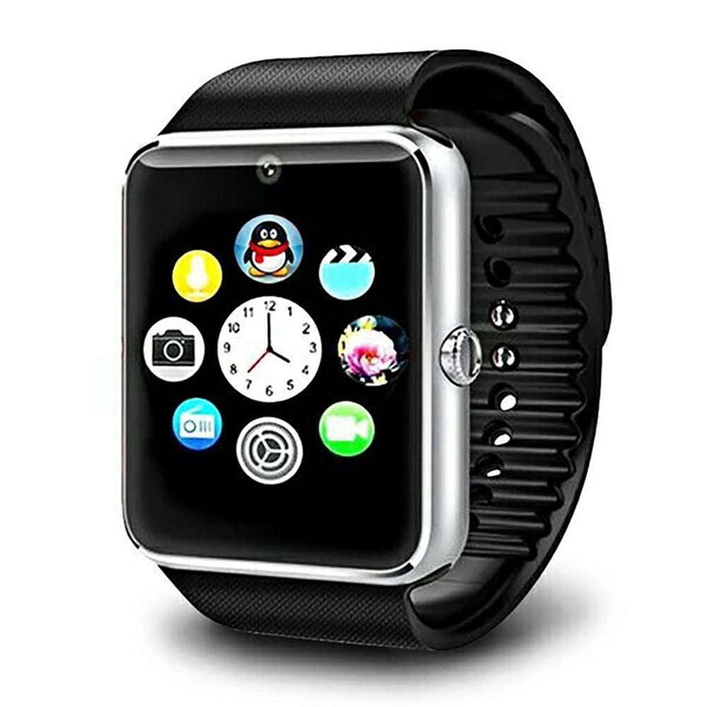 Smart Watch, With Touch Screen Big Battery Support TF Sim Card Wrist Watch, Camera For IOS iPhone Android Phone
