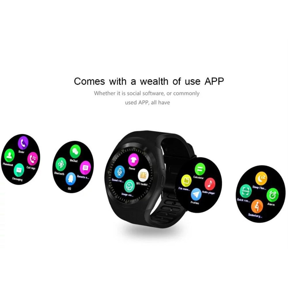 Smart Watch Bluetooth  Relogio Android Smartwatch Call phone sim-tf Camera