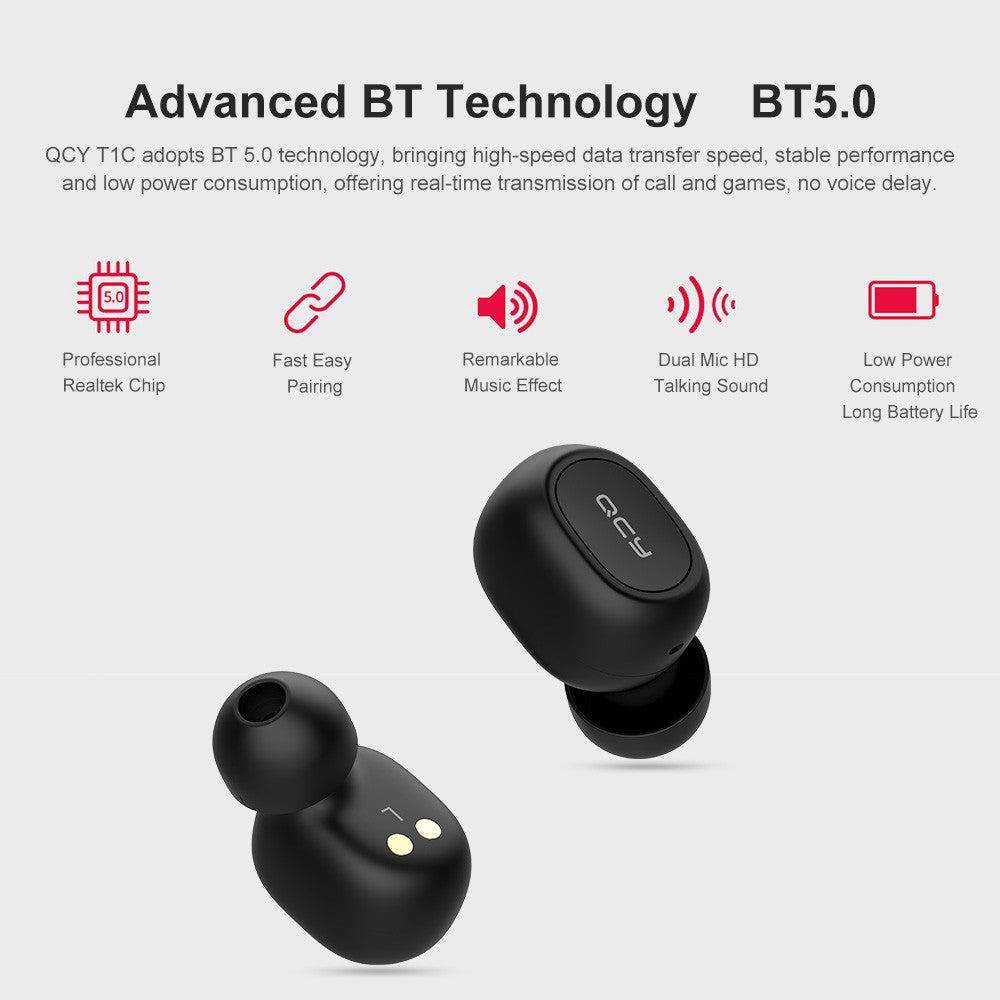 bf3ddaf2364 ... Earbuds True Wireless Headphones with Dual Mic In-ear Stereo Earphones  Twins Sports Headset Charging ...