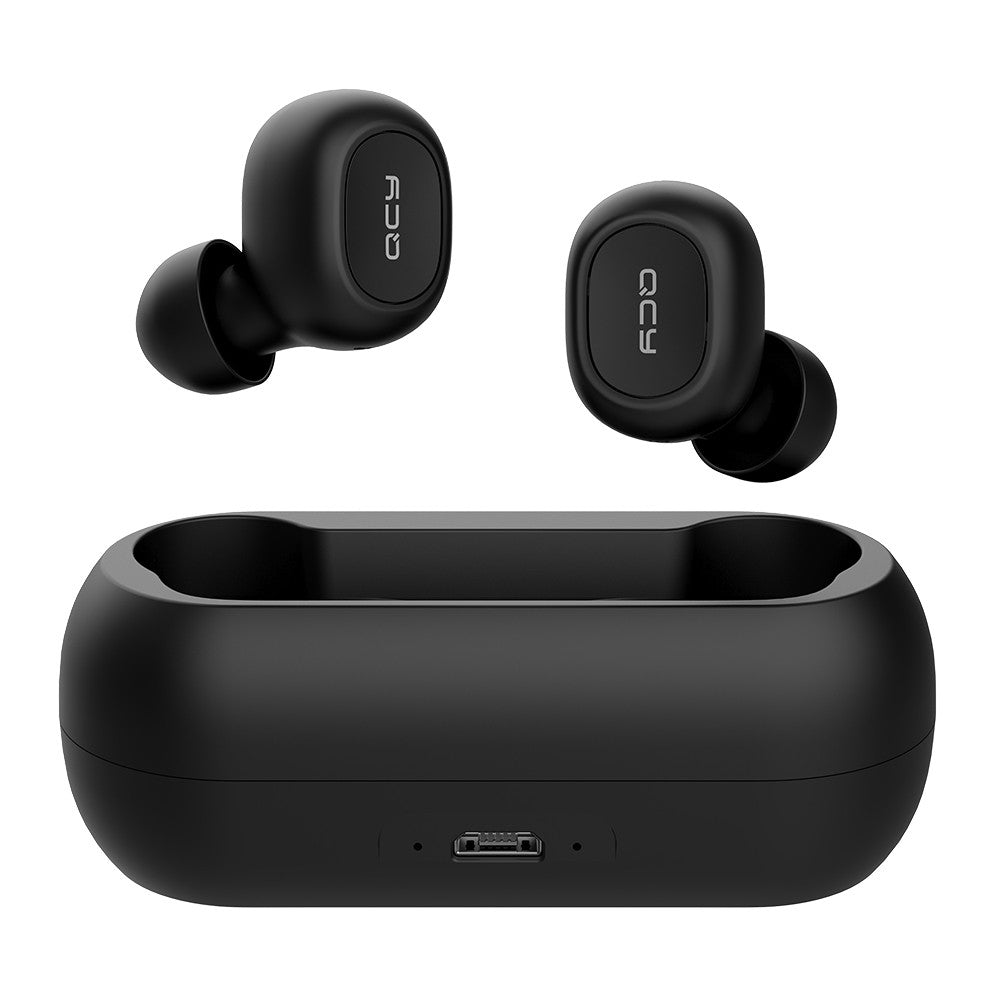 Earbuds True Wireless Headphones with Dual Mic In-ear Stereo Earphones Twins Sports Headset Charging Box QCY T1C Bluetooth 5.0 TWS