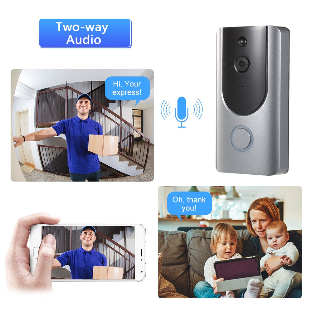 WiFi Smart Wireless Security DoorBell Smart HD 720P Visual Interco Remote Home Monitoring