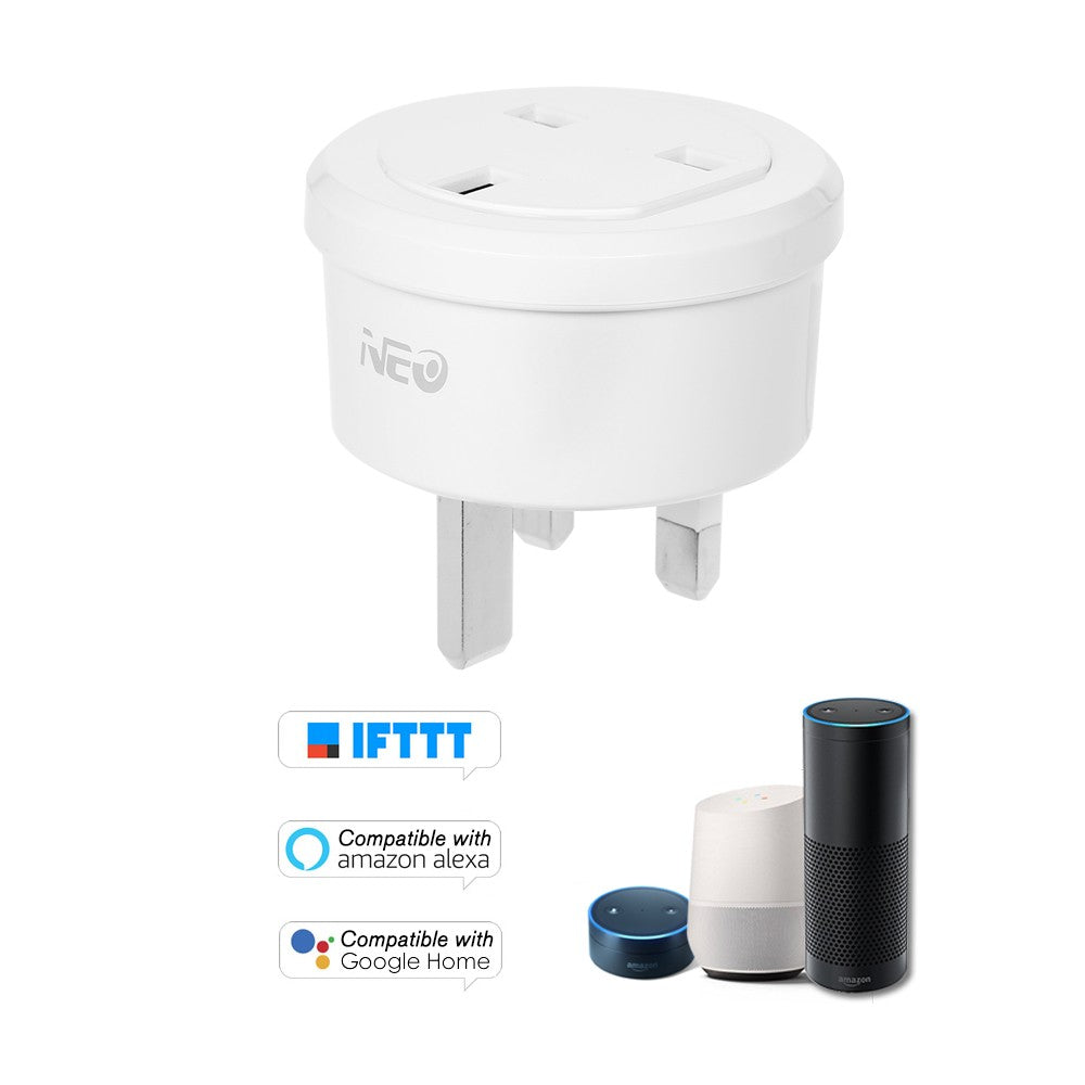 NEO Smart Power Plug Smart Home Socket Voice Control Compatible with Amazon Alexa and for Google Home