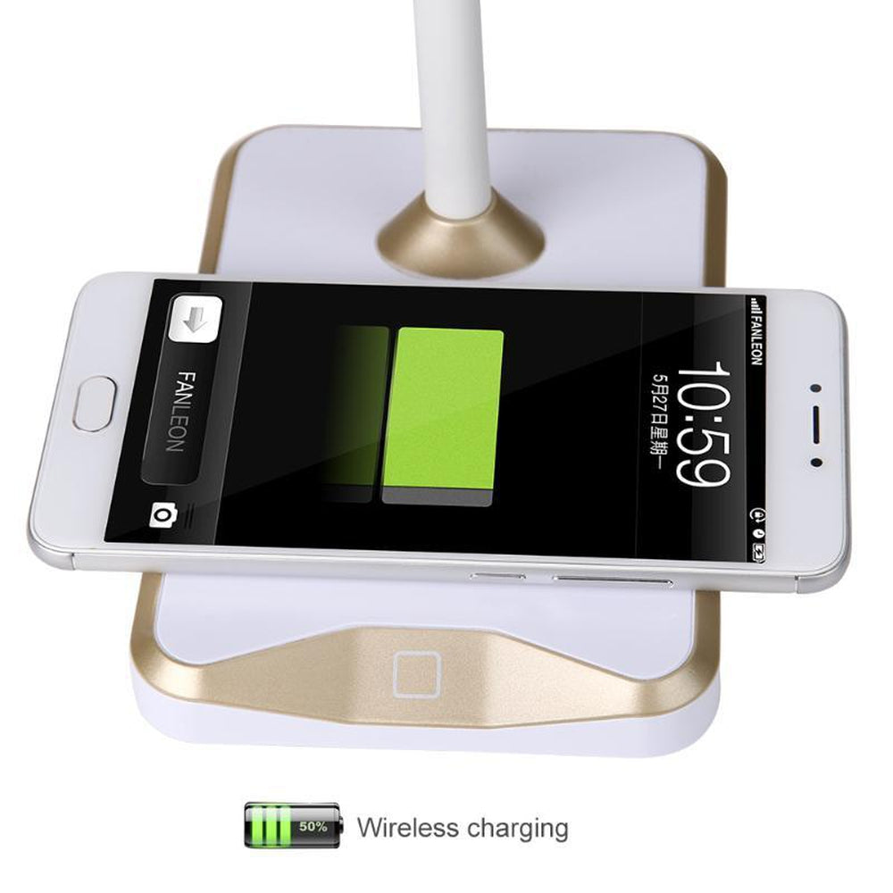LED Lamp  Wireless Charging Station Dimming Eye Protect Lamp