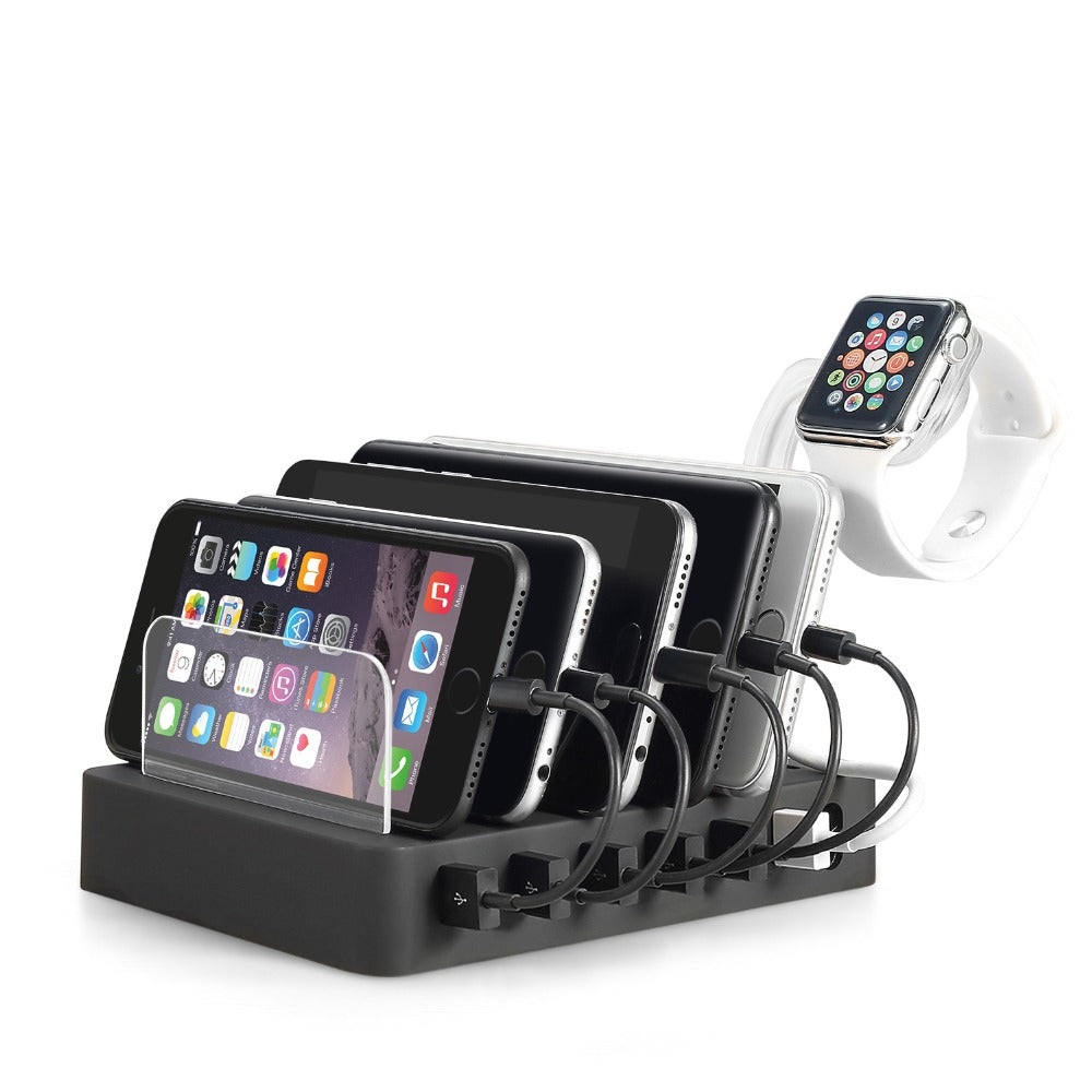 Fast Watch Charger  Multi Usb 6 Ports Charging Dock Station Desk