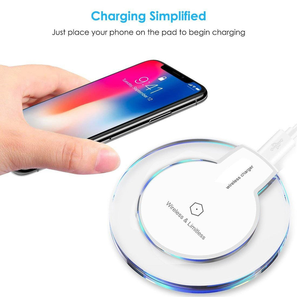 Wireless Charger Charging Pad For Iphone XS/XS Max/XR Ultra-thin Clear Mini Qi