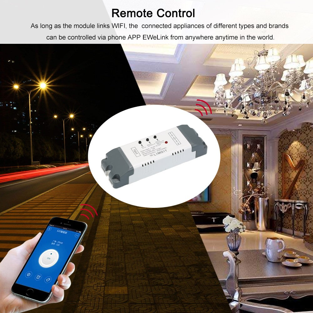 "Smart Wifi Switch Universal Wireless Phone APP Remote Control Compatible with ""Amazon"" Alexa Google Home"