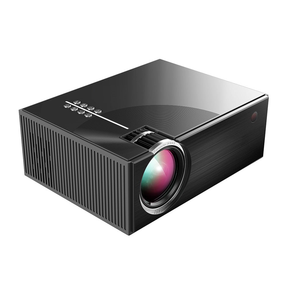 Portable LCD Projector Full HD LED Projector Can Synchronize Smart Phone Screen 1080P Supported 50000 Hours Lamps
