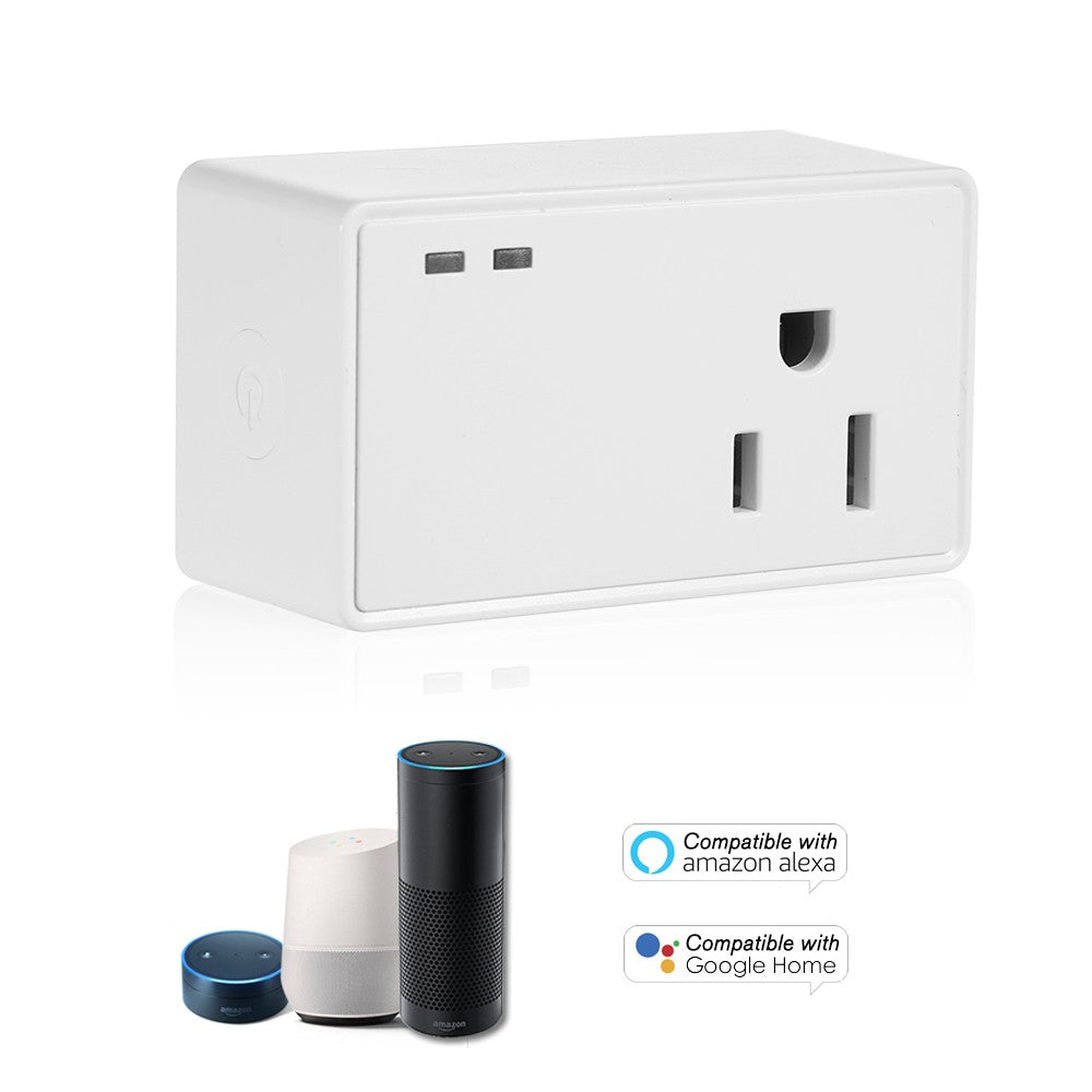 Timing Remote Control WIFI Smart Socket US Plug Wireless Outlet Compatible with Amazon Alexa/Echo&for Google Home