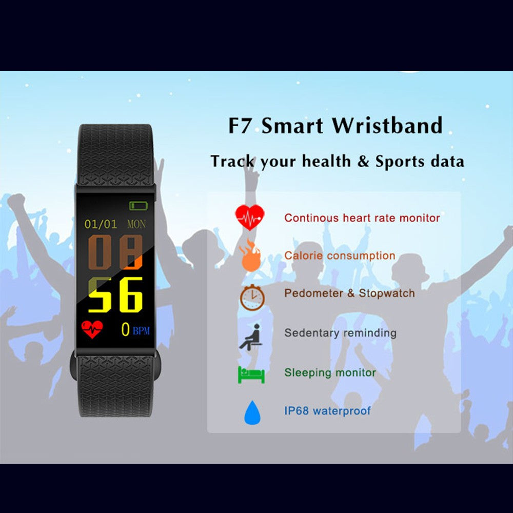 Smart Watch Bracelet Fitness Tracker Blood Pressure Heart Rate Monitor Watch Pedometer Activitiy Tracker Smart Wristband IP68 Waterproof