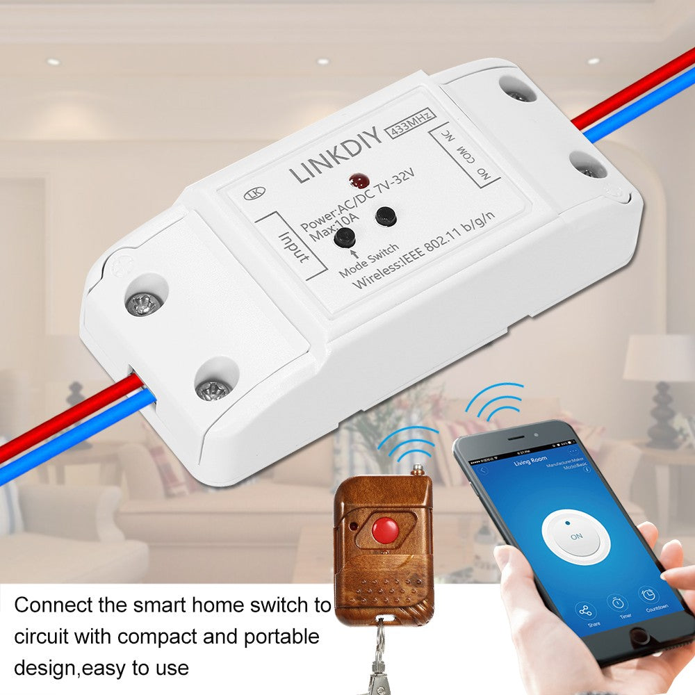 "Sonoff 433Mhz Smart Wifi Switch Universal Wireless Compatible with ""Amazon"" Alexa Google Home"