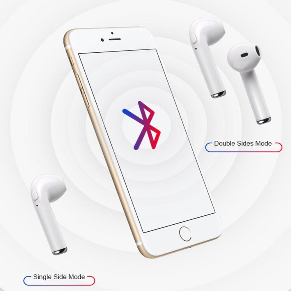 Universal Wireless Bluetooth i7 i7s TWS Earphones Headphones Headsets Stereo Mini Earbuds For Iphone Samsung Xiaomi Huawei LG