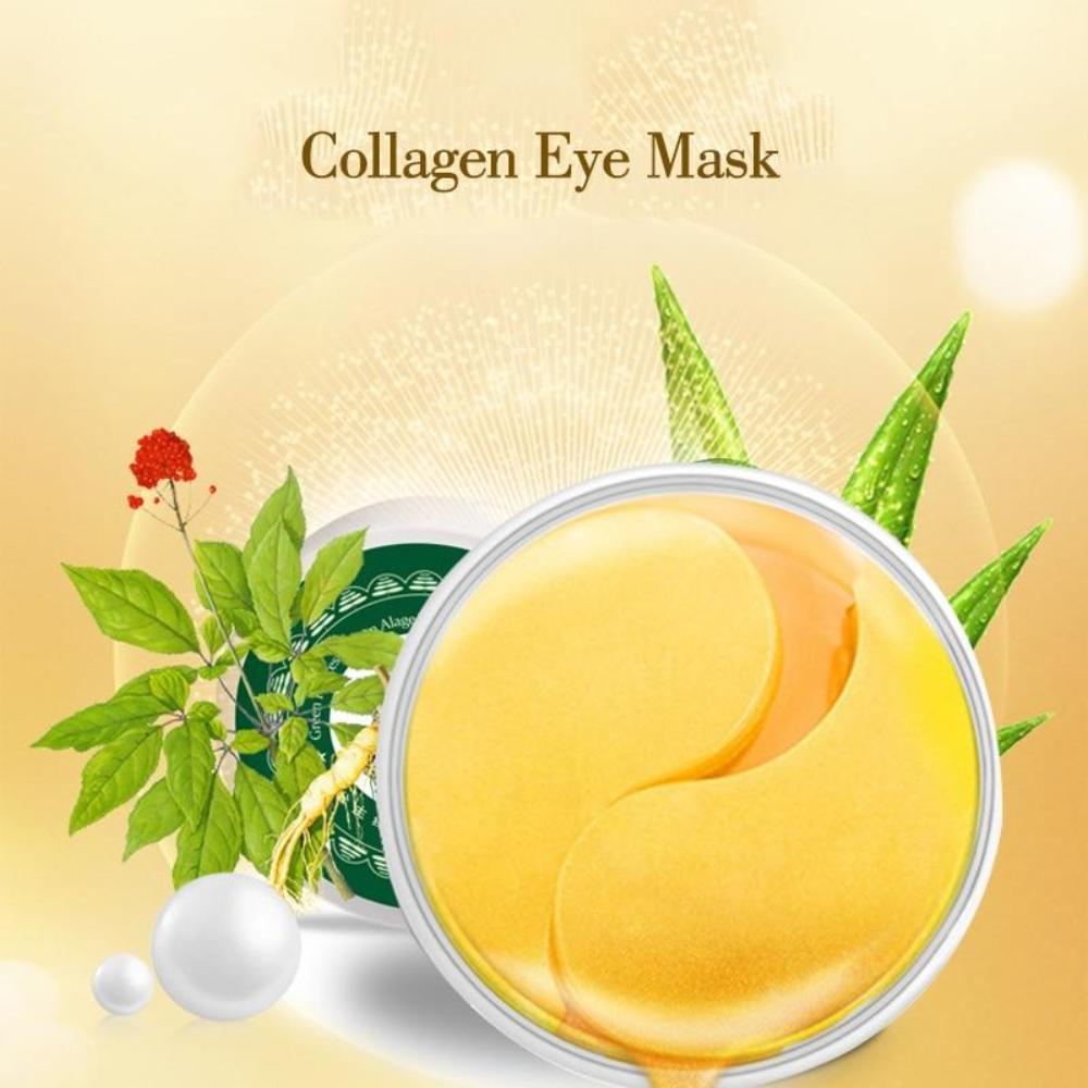 60PCS Eyes Masks Skin Care Gold Mask Gel Collagen Eye Mask Crystal Patchs Dark