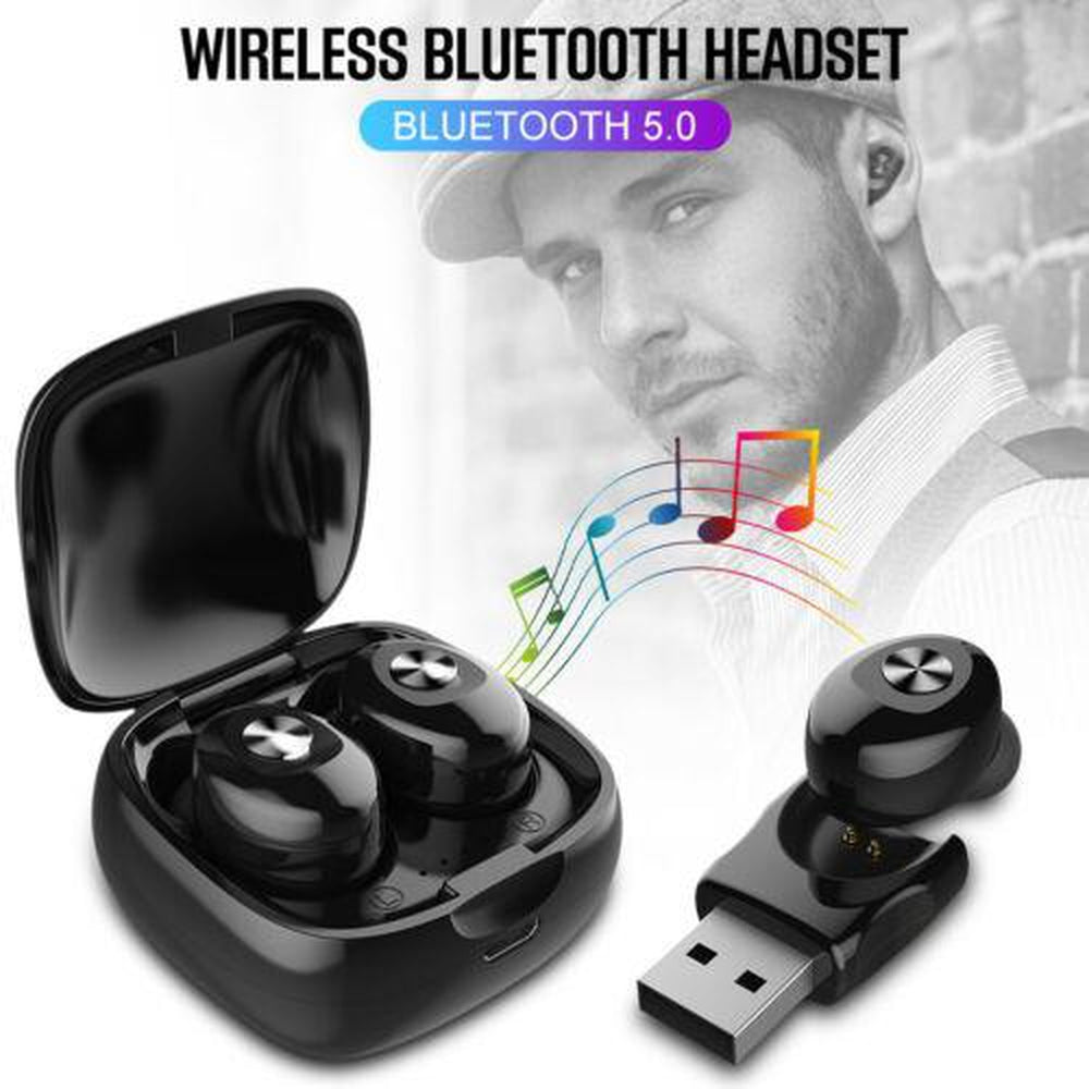Mini Bluetooth 5.0 Earbuds True Wireless Headset Deep Bass Twins In Ear Sport Earphones