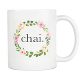 Floral Chai Mug, Regular Size (11 oz)