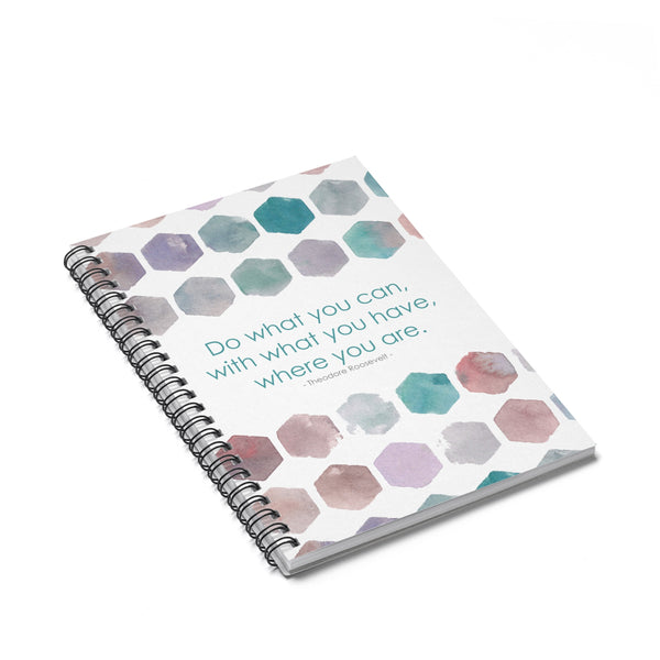Spiral Notebook - Do what you can