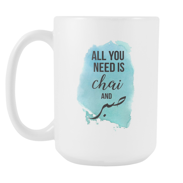 All You Need Chai (Blue) Mug, Large Size (15oz)