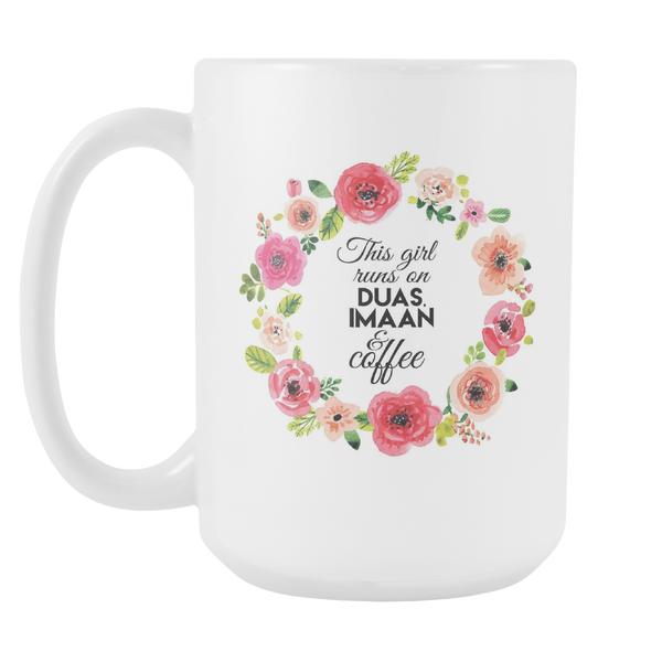 This Girl Runs On Mug, Large Size (15oz)