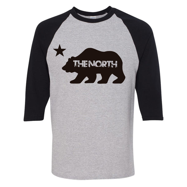 The North - 3/4 Sleeve Raglan Big Bear T-Shirt