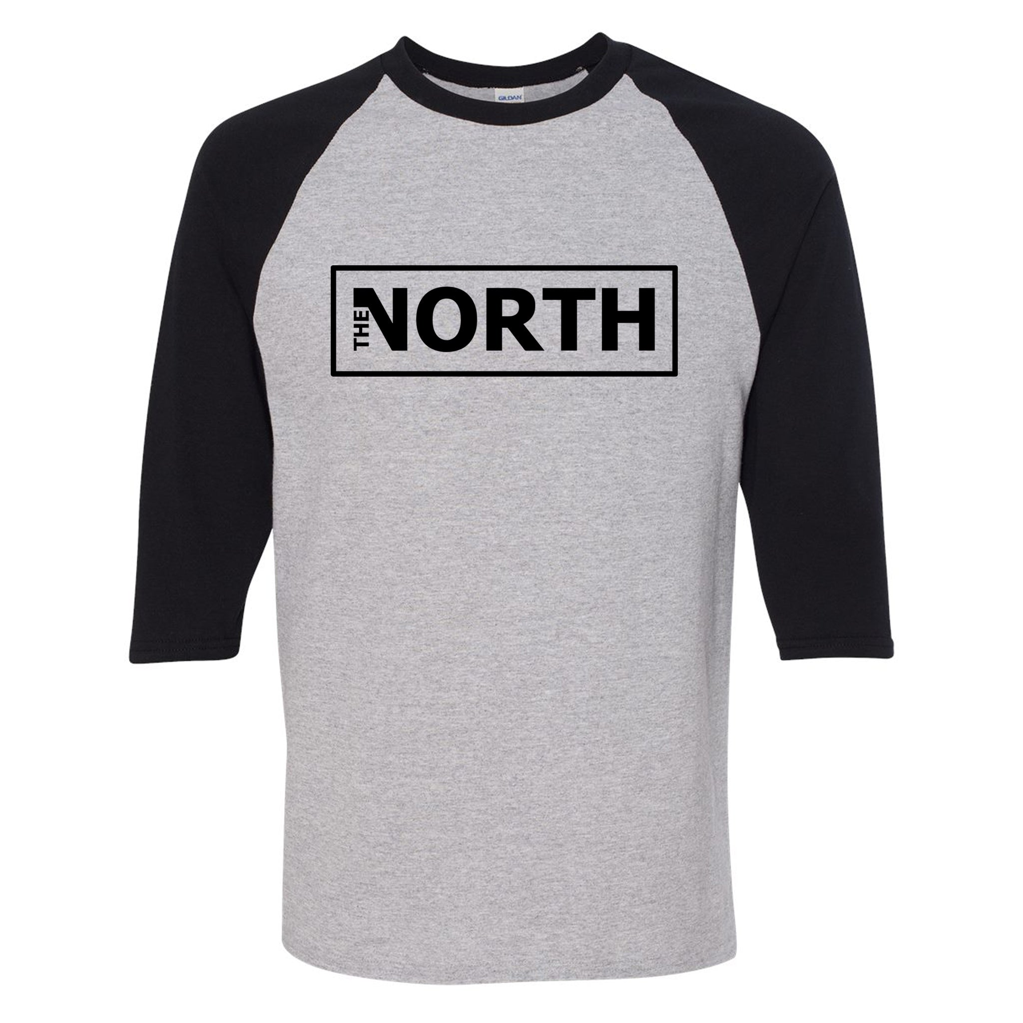 The North - 3/4 Sleeve Raglan Logo T-Shirt