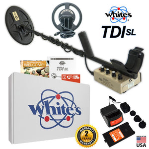 Whites TDI SL HIGH-Q  (with 8x12 Inch Coil) + FREE 7.5 Inch Coil