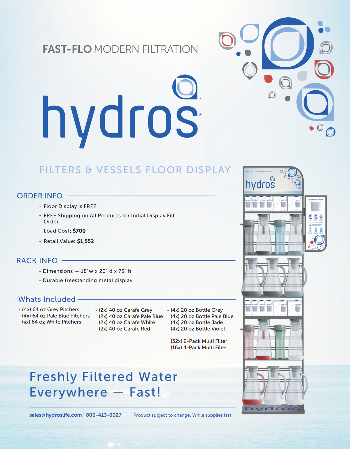 Hydros Product Display Sheet