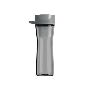 20 oz Water Bottle Grey With Filter