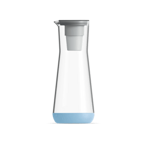 40 oz Water Carafe Pale Blue With Filter