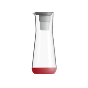 40 oz Water Carafe Red With Filter
