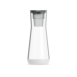 40 oz Water Carafe White With Filter