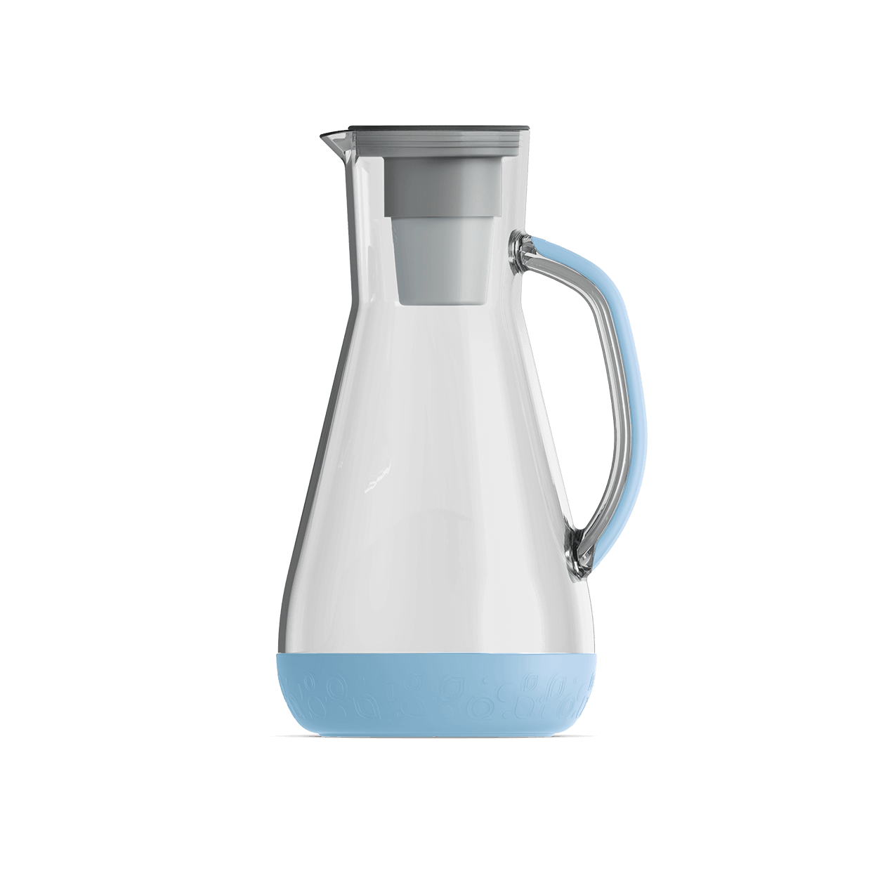hydros grey 64 oz pitcher filters 8 cups in about 1 minute hydros. Black Bedroom Furniture Sets. Home Design Ideas