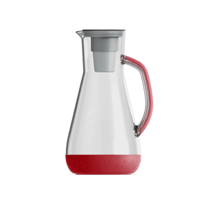 64 oz Water Pitcher Red With Filter
