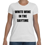 WHITE WINE IN THE DAYTIME Cotton Tee (3 colors) - The Sweetest Tee