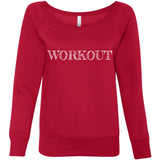WORKOUT Women's Fleece Wideneck Sweatshirt (6 colors) - The Sweetest Tee