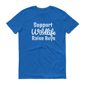 SUPPORT WILDLIFE RAISE BOYS Cotton Tee (10 colors) - The Sweetest Tee