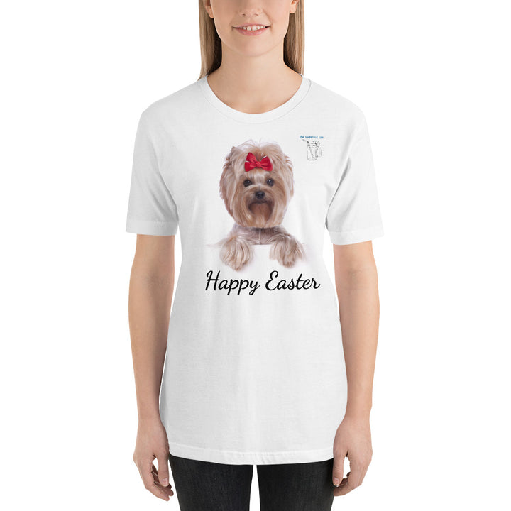 Happy Easter Yorkie Unisex T-Shirt - The Sweetest Tee