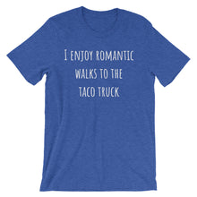 I ENJOY ROMANTIC WALKS... Unisex Cotton Tee (8 colors) - The Sweetest Tee