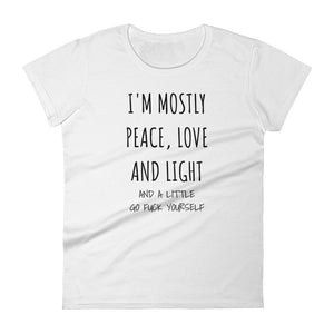 I'M MOSTLY PEACE LOVE AND LIGHT... Jersey Tee (4 colors) - The Sweetest Tee