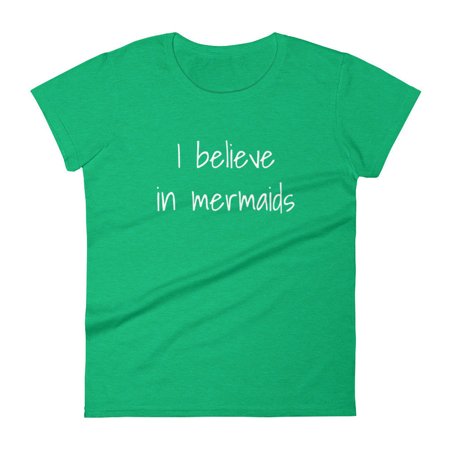 I BELIEVE IN MERMAIDS Jersey Tee (5 colors) - The Sweetest Tee