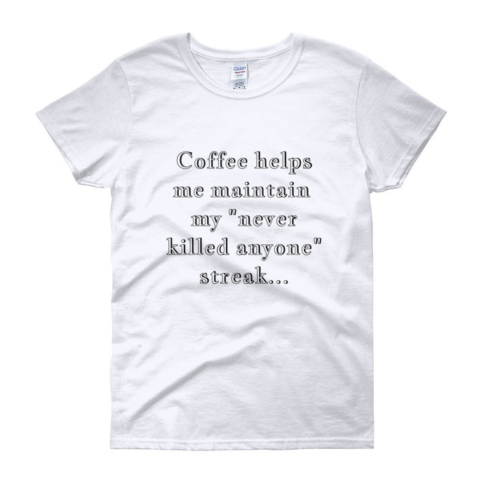 COFFEE HELPS ME... Cotton Tee (6 colors) - The Sweetest Tee