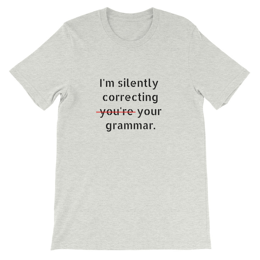 I'M SILENTLY CORRECTING... Unisex Tee (12 colors) - The Sweetest Tee