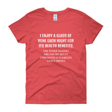 I ENJOY A GLASS OF WINE... Women's Tee (14 colors) - The Sweetest Tee