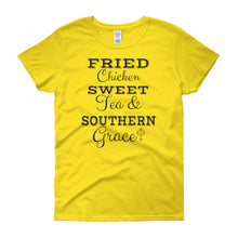 FRIED CHICKEN SWEET TEA SOUTHERN GRACE Cotton Tee (8 colors) - The Sweetest Tee