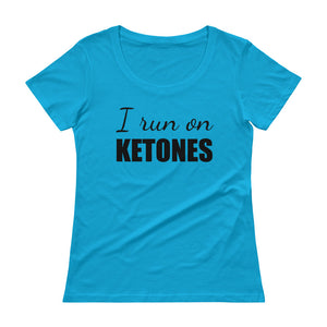 I RUN ON KETONES Ladies' Scoopneck Tee (9 colors) - The Sweetest Tee