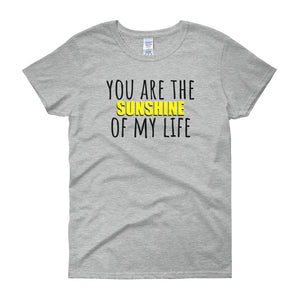 YOU ARE THE SUNSHINE OF MY LIFE Cotton Tee (2 colors) - The Sweetest Tee