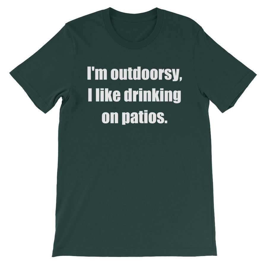 I'M OUTDOORSY... Unisex Cotton Tee (8 colors) - The Sweetest Tee