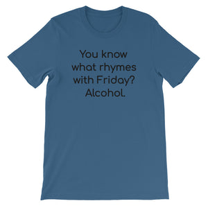 YOU KNOW WHAT RHYMES... Unisex Cotton Tee (5 colors) - The Sweetest Tee