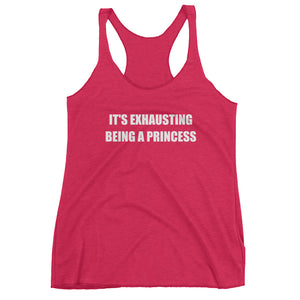 IT'S EXHAUSTING... Women's Racerback Tank (10 colors) - The Sweetest Tee