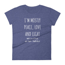 I'M MOSTLY PEACE LOVE AND LIGHT... Jersey Tee (7 colors) - The Sweetest Tee