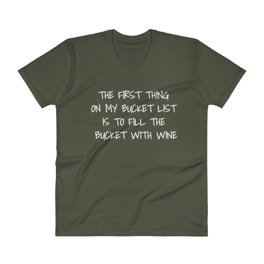 THE FIRST THING ON MY BUCKET LIST... Unisex V-Neck Tee (6 colors) - The Sweetest Tee